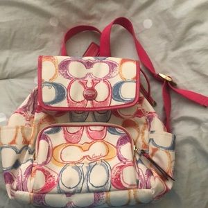 Pink Coach Backpack purse